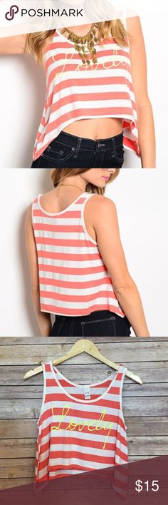 """""""Lovely"""" Graphic Tank Top 48% polyester/ 48% rayon/ 4% spandex. Available in Small, medium and large. Fits true to size. PRICE FIRM UNLESS BUNDLED Tops Tank Tops"""