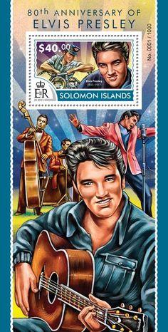 Post stamp Solomon Islands SLM 15313 b80th anniversary of Elvis Presley (1935–1977)