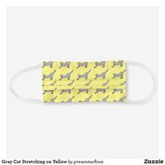 Shop Gray Cat Stretching on Yellow Cloth Face Mask created by presentsoflove. Cat Stretching, Cat Face Mask, Russian Blue, Cat People, Grey Cats, Cute Illustration, Snug Fit, Sensitive Skin, Colorful Backgrounds