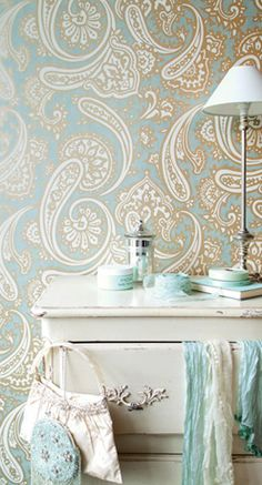 Freakin PAISLEY wallpaper from Harlequin.