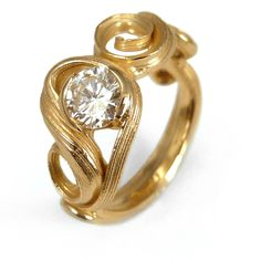 Mitsuro Swirl Diamond Ring    14k yellow gold diamond 'Mitsuro Swirl' ring  0.50ct Diamond      From $4,800