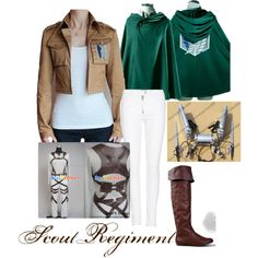 Scout Regiment Cosplay- Attack on Titan, created by notyourhero on Polyvore