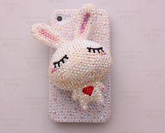 Rabbit Crystal Phone Case Deco Den Kit by AlonmyCrystalCrafts