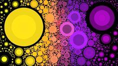 made with mosaic art lab. #mosaicartlab #pink #purple #yellow #circles #abstract #abstract art