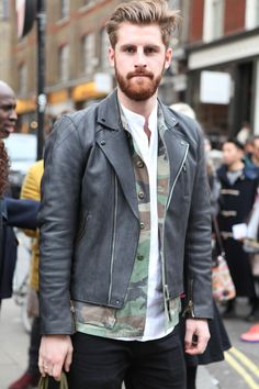 Mens Leather Jackets Street Style