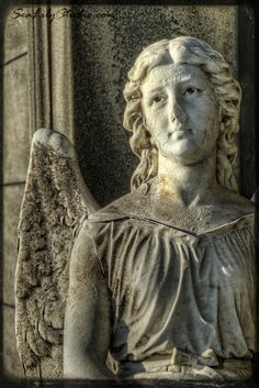 Waiting Angel  8x12  Cemetery Photography  Fine by SeaLilyStudio, $30.00