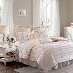 Madison Park 9-piece Harmony Comforter Set, Orange