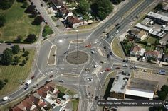 The Magic Roundabout in Swindon, England, constructed in 1972, is the most brilliant and at the same time, the most confusing roundabout ever built. The roundabout, named after the popular children's television series by the same name, is located near the County Ground and consists of five mini-roundabouts arranged in a circle.