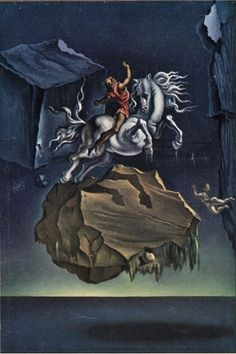 Rock and Infuriated Horse Sleeping under the Sea 1947 Salvador Dalí