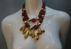 YSL Yves Saint Laurent Early two strand beaded by Vintageables