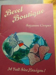 Bevel Boutique, 34 designs, stained glass pattern book, Suzanne Cooper #SuzanneCooper