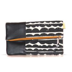 Black Clouds Foldover Clutch