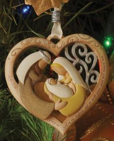 Holy Family Heart Ornament, Legacy of Love