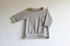 Three quarter sleeve stripe tail shirt by smallville, $34.00