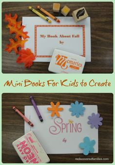 Making Mini Books (free printables) - Making Mini Books with your child is a really fun activity. It is something that younger children, especially preschoolers, love to do.  -