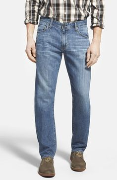 AG 'Graduate' Tailored Straight Leg Jeans (13 Year Humid) available at #Nordstrom