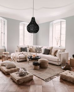boho style home living rooms boho style home decor boho style home interior design Boho Living Room, Living Room Interior, Home And Living, Cream Living Room Decor, Living Rooms, Interior Livingroom, Modern Living, Living Room Inspiration, Inspiration Design