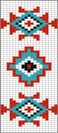 Native American Geometric Design Pattern Chart For Cross