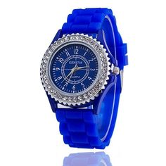 Ladies GENEVA Watch Classic Gel Crystal Silicone Jelly watch - Mopixie Store  | Mopixiestore.com
