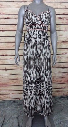 Maxi dress boho halter womens size 0 The Limited #TheLimited #EmpireWaistMaxi #Casual