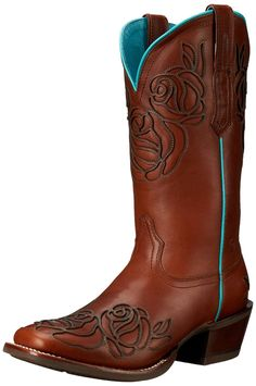 Ariat Women's Dusty Rose Wide Square Toe Western Cowboy Boot * Check out this great image  : Women's boots