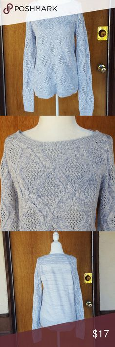 Sonoma  Knit Blue White Marble  Crew neck  medium in great condition Sonoma Sweaters Crew & Scoop Necks