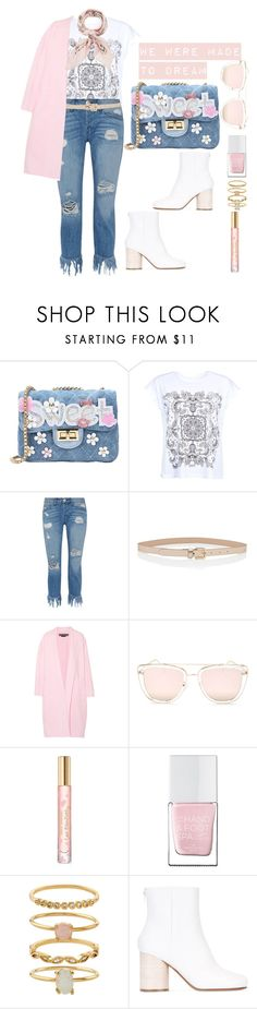 """Dreamer"" by tee-ray ❤ liked on Polyvore featuring George J. Love, Barbour International, 3x1, Rochas, Quay, Tory Burch, The Hand & Foot Spa, Accessorize, Maison Margiela and Manipuri"