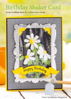 Birthday Shaker Card from the Spring 2015 issue of CardMaker Magazine. Order a digital copy here: https://www.anniescatalog.com/detail.html?code=AM5256