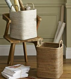 Modern square baskets