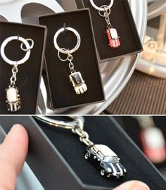 Amazon.com: Genuine MINI Cooper Micro Miniature Car Key Chain Keychain Key Ring - PEPPER WHITE: Sports & Outdoors