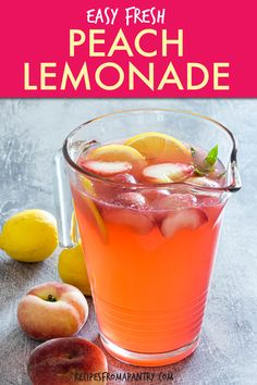 This tart yet sweet peach lemonade is everything you love about the classic drink with some extra oomph thanks to ripe and juicy peaches. A great thing about this homemade peach lemonaderecipe is that itcomes together with a few minutes of effort and just 4 everyday ingredients. Plus it's endlessly customizable and can be turned into boozy lemonade for adults-only sipping. Click through to get this awesome Peach Lemonade Recipe!! #peachlemonade #lemonade #lemonaderecipes #drinkrecipes Best Scallop Recipe, Scallop Recipes, Peach Lemonade Recipes, Fun Drinks, Beverages, Sweet Peach, Summer Parties, Tart, Picnic