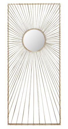 Light up any room with this radiant design. Our Beacon Wall Mirror is constructed with quality metal and mimics the look of the rising sun. Tall and rectangular, this piece suits a variety of spaces an...  Find the Beacon Wall Mirror, as seen in the Vibrant Mid-Century Modernism Collection at http://dotandbo.com/collections/vibrant-mid-century-modernism?utm_source=pinterest&utm_medium=organic&db_sku=121058