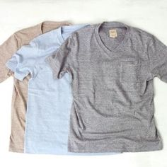 Sanca サンカ 14SS / Twist pocket v-neck tee ツイスト・ポケット・Vネック・Tシャツ