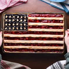 One nation, under cake, indivisible, with pie and ice cream for all! 🥧💥🍰 Happy Fourth of July! - Happy of July for anyone who celebrates the holiday! We've got 2 new patriotic treats to whip - 4th Of July Desserts, Holiday Desserts, Just Desserts, Holiday Recipes, Delicious Desserts, Yummy Food, Easter Recipes, Cupcake Cakes, Food Cakes