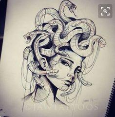 Tattoo Painting, Tatoo Art, Body Art Tattoos, Girl Tattoos, Sleeve Tattoos, Tatoos, Medusa Tattoo Design, Tattoo Designs, Tattoo Ideas
