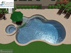 Browse swimming pool design ideas for the perfect pool for your home. Discover pool deck ideas and landscaping options to create your dream swimming pool Small Swimming Pools, Small Backyard Pools, Backyard Pool Landscaping, Backyard Pool Designs, Small Pools, Swimming Pools Backyard, Swimming Pool Designs, Outdoor Pool, Landscaping Ideas
