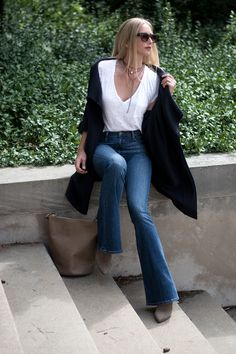 Jeans and a Tee — and a pearl:) FORAGE FASHION