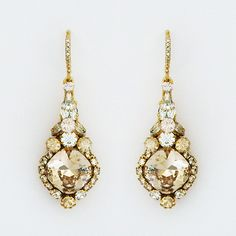 Check out the deal on Gold Vintage Crystal Drop Bridal Earrings at Perfect Details