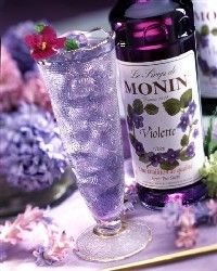 Known as crème de violette, the liqueur first originated in Austria. Handpicked flowers are mashed into Weinbrand (a type of brandy) and sugar is then added. The taste is interesting with a gorgeous lavender hue.