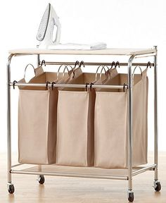 Neatfreak Hampers, Everfresh Laundry Triple Sorter with Ironing Board - Laundry Room Organization - for the home - Macys