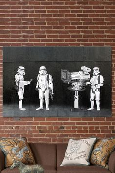 Banksy print on Canvas: Stormtroopers filming Oscars
