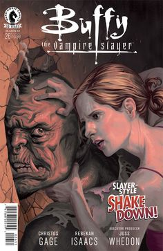 Buffy the Vampire Slayer cover issue 26 season 10 by StevenJamesMorris on DeviantArt Darkhorse Comics, Comic Book Characters, Comic Books, Steve Morris, Comic News, Modern Magic, Horse Books, Buffy Summers, Buffy The Vampire Slayer