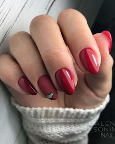 Make an original manicure for Valentine's Day - My Nails Winter Nail Designs, Cool Nail Designs, Manicure, Super Nails, Nail Decorations, Perfect Nails, Winter Nails, Red Nails, Christmas Nails