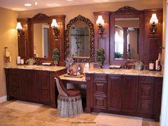 Wooden bathroom vanity ideas. www.findinghomesinlasvegas.com Keller Williams Real Estate #lasvegas