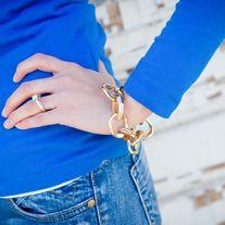 Everyone needs a gold toggle bracelet!