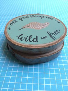 Birch Wood Slice Coasters / Set of two by DoodlebugLettering