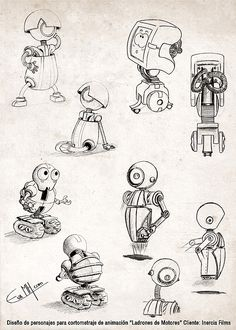 How to Turn Short Fiction into a Short Film Character Drawing, Character Concept, Concept Art, 3d Character, Robot Cute, Robot Sketch, Doodle Monster, Robot Cartoon, Robots Characters