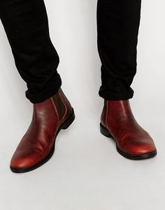 ASOS+Chelsea+Boots+in+Chestnut+Leather