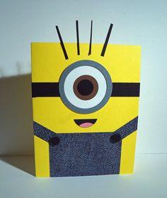 Minion Card Tutorial Disney Birthday Card, Birthday Cards, Minion Card, Minions, Kids Fun, Cool Kids, Punch Art, Video Tutorials, Kids Cards