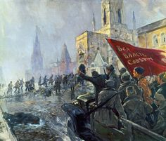 The consequences of the Russian revolution: collapse of Imperial Russia, Russian Civil War, The Bolsheviks took over and Abdication of Czar Nicholas II. Russian Revolution 1917, February Revolution, Soviet Art, Soviet Union, Military Art, Military History, Moscow Kremlin, Communist Propaganda, The Bolsheviks